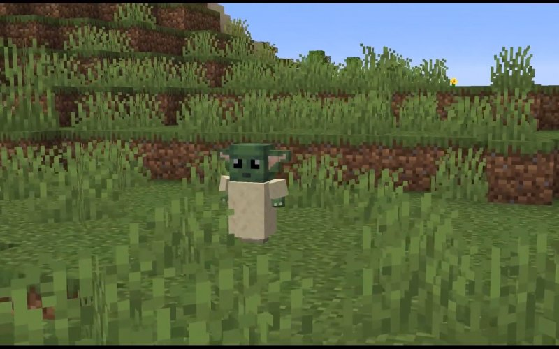 Baby Yoda now available in Minecraft featuring its Force Powers!